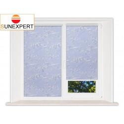 Миникассетные рулонные шторы Мини. Сакура голубой