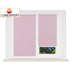 Миникассетные рулонные шторы Мини. Шантунг розовый