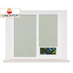 Миникассетные рулонные шторы Мини. Шантунг зеленый