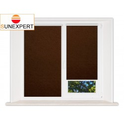 Миникассетные рулонные шторы Мини. Шелк коричневый