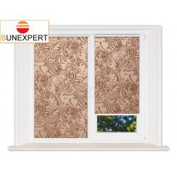 Миникассетные рулонные шторы Мини. Версаль шоколад