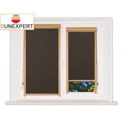 Миникассетные рулонные шторы Уни-1. Аруба темно-коричневый