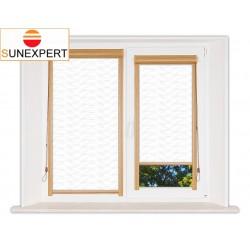 Миникассетные рулонные шторы Уни-1. Флора белый