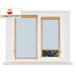 Миникассетные рулонные шторы Уни-1. Флора голубой