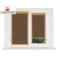 Миникассетные рулонные шторы Уни-1. Лусто коричневый