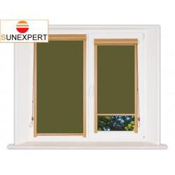 Миникассетные рулонные шторы Уни-1. Лусто темно-зеленый