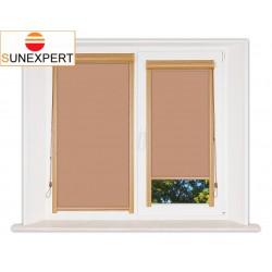 Миникассетные рулонные шторы Уни-1. Металлик светло-коричневый