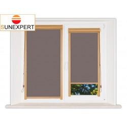 Миникассетные рулонные шторы Уни-1. Металлик темно-коричневый