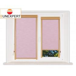 Миникассетные рулонные шторы Уни-1. Шантунг розовый