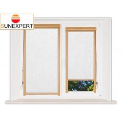 Миникассетные рулонные шторы Уни-1. Шелк белый