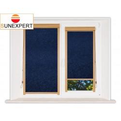 Миникассетные рулонные шторы Уни-1. Шелк синий