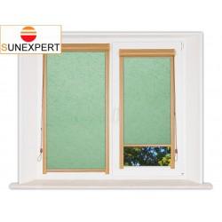 Миникассетные рулонные шторы Уни-1. Шелк светло-зеленый