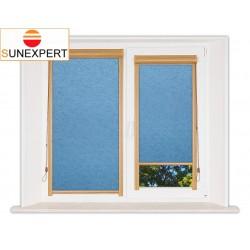 Миникассетные рулонные шторы Уни-1. Шелк голубой