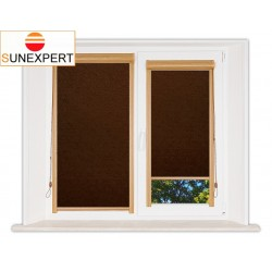Миникассетные рулонные шторы Уни-1. Шелк коричневый