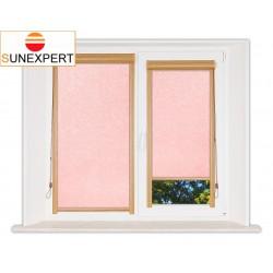Миникассетные рулонные шторы Уни-1. Шелк розовый