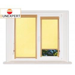 Миникассетные рулонные шторы Уни-1. Шелк желтый
