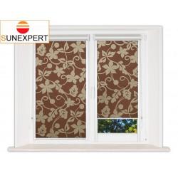 Миникассетные рулонные шторы Уни-2. Ажур коричневый