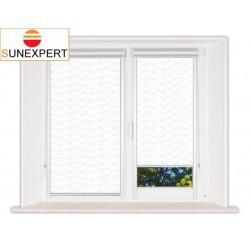 Миникассетные рулонные шторы Уни-2. Флора белый