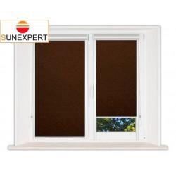 Миникассетные рулонные шторы Уни-2. Шелк коричневый