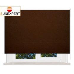 Рулонные шторы Стандарт. Шелк коричневый