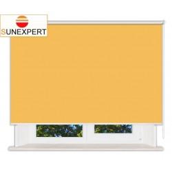 Рулонные шторы Люкс. Аргентум желтый