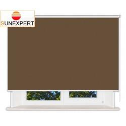 Рулонные шторы Люкс. Лусто коричневый