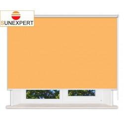 Рулонные шторы Люкс. Мадагаскар оранжевый