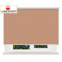 Рулонные шторы Люкс. Металлик светло-коричневый