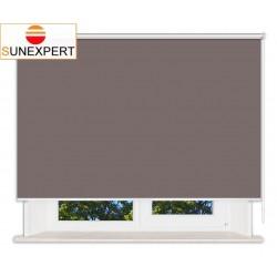 Рулонные шторы Люкс. Металлик темно-коричневый