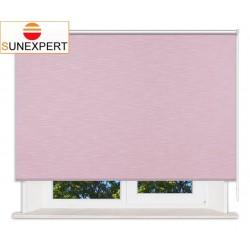 Рулонные шторы Люкс. Шантунг розовый