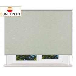 Рулонные шторы Люкс. Шантунг зеленый
