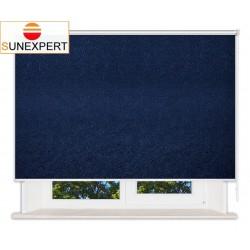 Рулонные шторы Люкс. Шелк синий