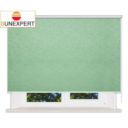 Рулонные шторы Люкс. Шелк светло-зеленый