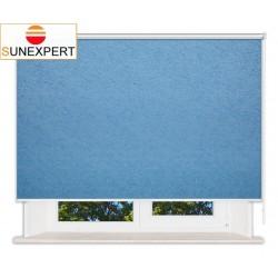 Рулонные шторы Люкс. Шелк голубой