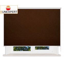 Рулонные шторы Люкс. Шелк коричневый
