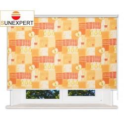Рулонные шторы Люкс. Тонус оранж