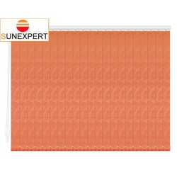 Вертикальные тканевые жалюзи. Рио оранжевый 100309-4290