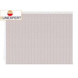 Вертикальные тканевые жалюзи. Жемчуг блэкаут серый 100807-1608
